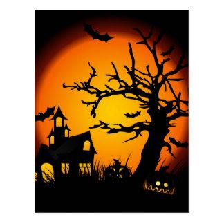 Casa encantada de Halloween Tarjetas Postales