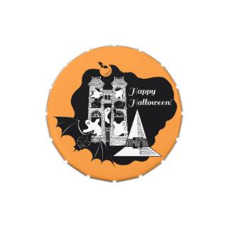 Casa encantada de Halloween - truco o invitación Frascos De Caramelos