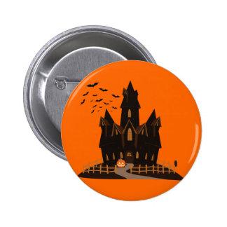 Casa encantada del feliz Halloween Pins