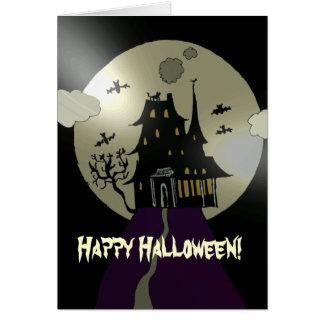 Casa encantada del feliz Halloween Tarjeta De Felicitación
