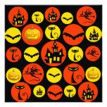 Casa encantada del modelo de lunar de Halloween de Invitacion Personalizada