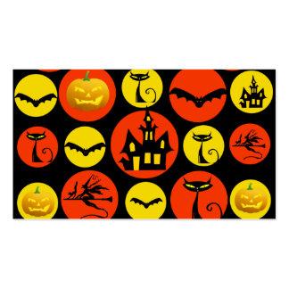 Casa encantada del modelo de lunar de Halloween de Tarjeta De Visita