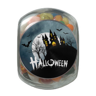 Casa encantada en una colina Spooktacular Hallowee Jarras De Cristal Jelly Bely