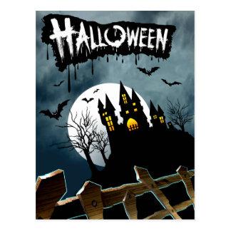 Casa encantada en una colina Spooktacular Hallowee Tarjeta Postal