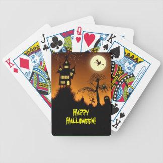 Casa encantada espeluznante Halloween Baraja