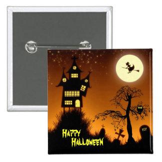 Casa encantada espeluznante Halloween decorativo Pin