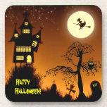 Casa encantada espeluznante Halloween decorativo Posavasos De Bebidas