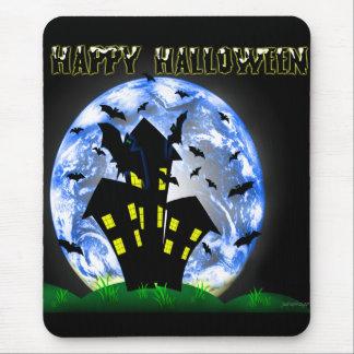 Casa encantada espeluznante Mousepad del feliz Hal Tapete De Raton