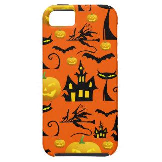 Casa encantada fantasmagórica de Halloween con el  iPhone 5 Case-Mate Coberturas