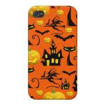 Casa encantada fantasmagórica de Halloween con el  iPhone 4/4S Carcasas