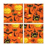 Casa encantada fantasmagórica de Halloween con el  Impresion De Lienzo