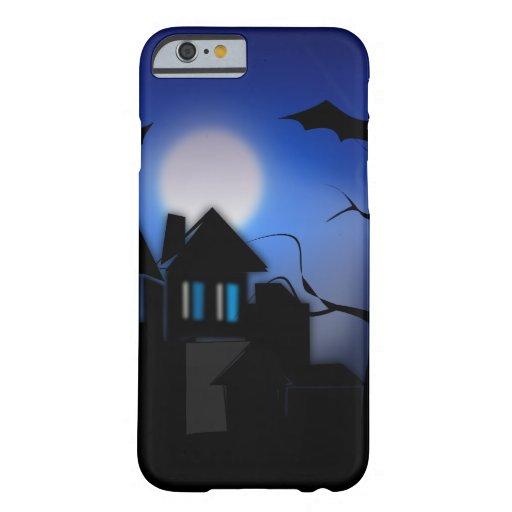 Casa encantada fantasmagórica de Halloween con los Funda De iPhone 6 Barely There