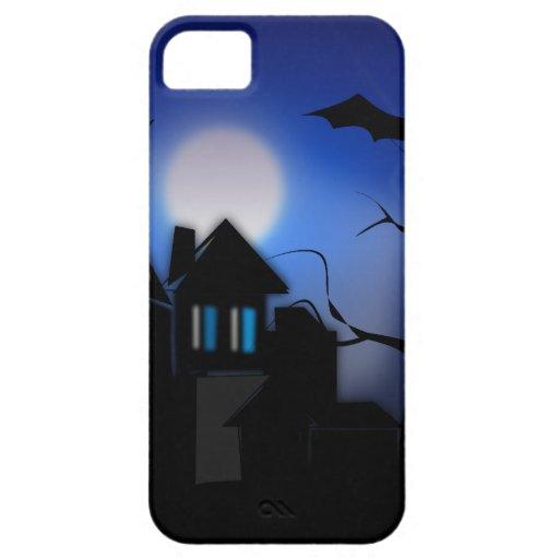Casa encantada fantasmagórica de Halloween con los iPhone 5 Coberturas