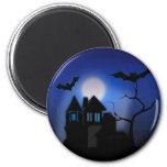 Casa encantada fantasmagórica de Halloween con los Iman Para Frigorífico