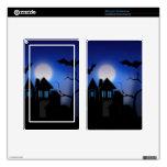 Casa encantada fantasmagórica de Halloween con los Kindle Fire Pegatina Skin