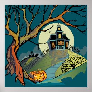 Casa encantada fantasmagórica impresiones