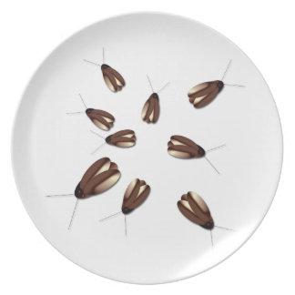 Casa encantada gruesa de Halloween de los insectos Platos De Comidas