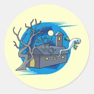 Casa encantada etiqueta