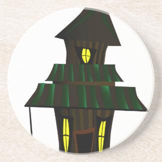 Casa encantada posavasos de arenisca