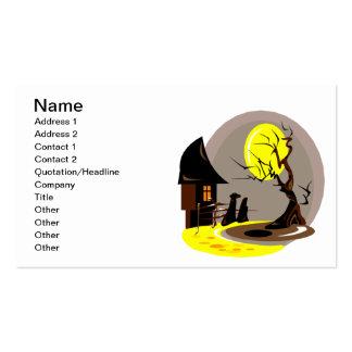 Casa encantada plantilla de tarjeta de visita