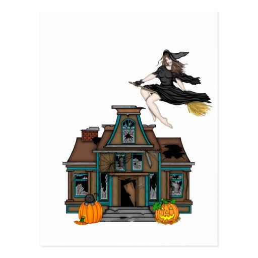 Casa encantada tarjeta postal