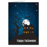 Casa encantada V del feliz Halloween Felicitacion