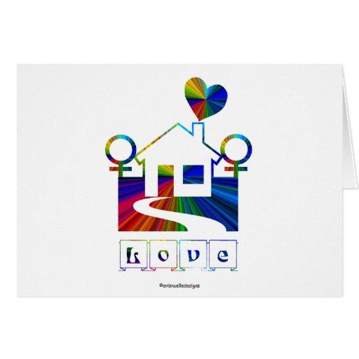 ¡Casa-Enhorabuena del arco iris del matrimonio hom Felicitación