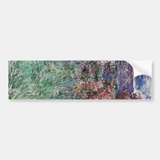 Casa entre los rosas de Claude Monet Pegatina De Parachoque