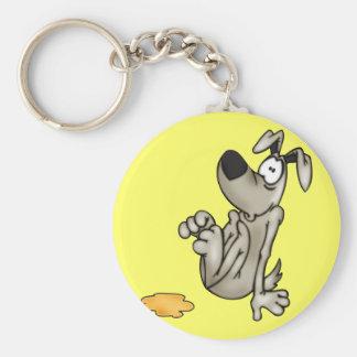 Casa-entrenamiento un perro del dibujo animado llavero
