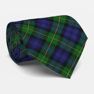 Casa escocesa del tartán del clan del monograma de corbata