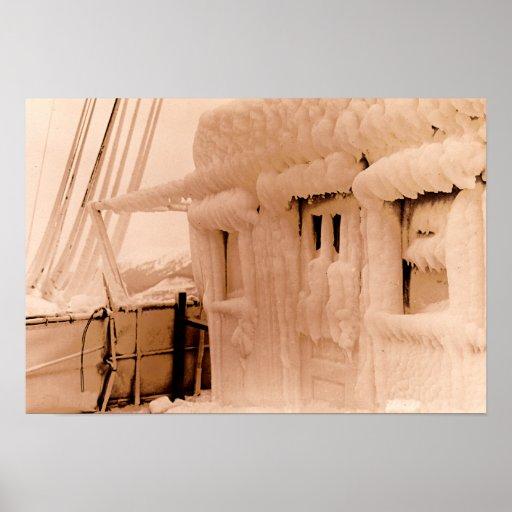 Casa experimental de Juneau Alaska en el barco Posters