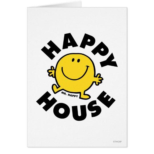 Casa feliz de Sr. Happy el | Tarjeta De Felicitación