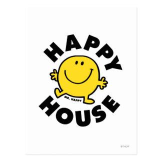 Casa feliz de Sr. Happy el | Postal
