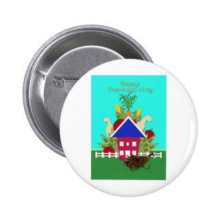Casa feliz de Vegie de la acción de gracias Pin