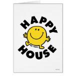 Casa feliz tarjeta