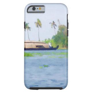 Casa flotante en Kerala en laguna del agua salada Funda De iPhone 6 Tough