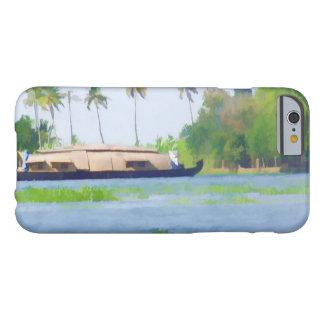 Casa flotante en Kerala en laguna del agua salada Funda De iPhone 6 Barely There