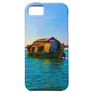Casa flotante en Kerala en laguna del agua salada iPhone 5 Protector