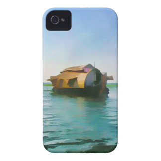 Casa flotante en Kerala en laguna del agua salada Case-Mate iPhone 4 Fundas