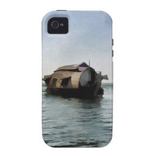 Casa flotante en Kerala en laguna del agua salada iPhone 4/4S Fundas