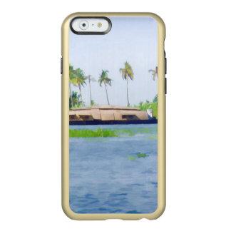Casa flotante en Kerala en laguna del agua salada Funda Para iPhone 6 Plus Incipio Feather Shine