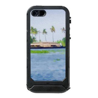 Casa flotante en Kerala en laguna del agua salada Funda Para iPhone 5 Incipio ATLAS ID