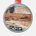 Casa flotante, lago Powell, Arizona, los E.E.U.U. Adornos