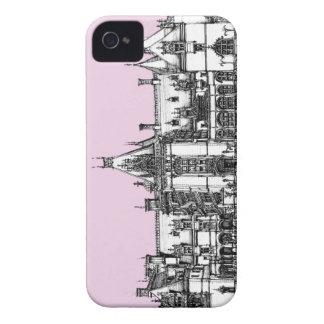 Casa gótica en rosa iPhone 4 protector