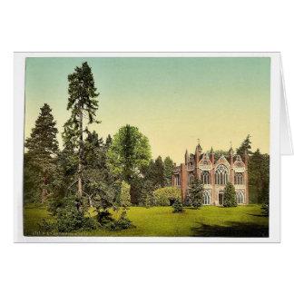 Casa gótica I, parque de Worlitz, Anhalt, Alemania Tarjeta