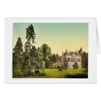 Casa gótica I, parque de Worlitz, Anhalt, Alemania Felicitaciones