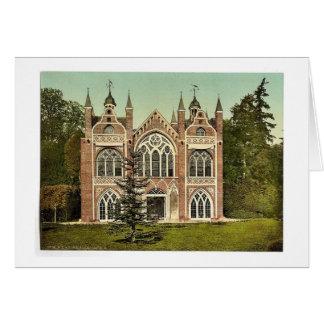 Casa gótica II, parque de Worlitz, Anhalt, Alemani Tarjetón