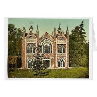 Casa gótica II, parque de Worlitz, Anhalt, Alemani Felicitacion