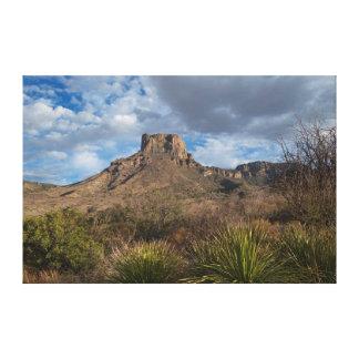 Casa Grande Peak, Chisos Basin, Big Bend Canvas Print