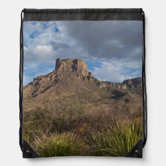 Casa Grande Peak, Chisos Basin, Big Bend Drawstring Backpack